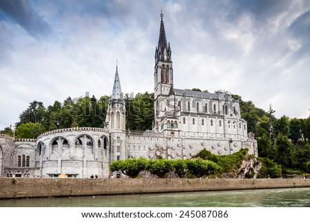 Lourdes Church - stock photo