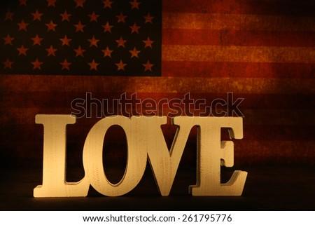 Love America - stock photo