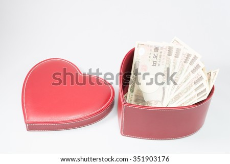 Love and money - stock photo
