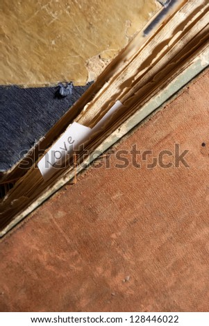 Love background. Love bookmarks concept. - stock photo