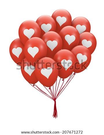 love balloon 3d render - stock photo