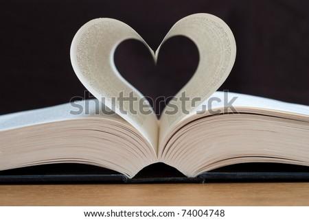 Love books, Love reading, Love Story. - stock photo