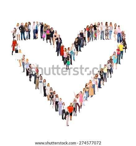 LOVE Concept Together we Stand  - stock photo