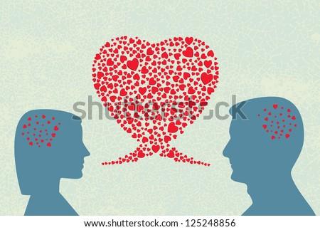 Love dialogue - stock photo