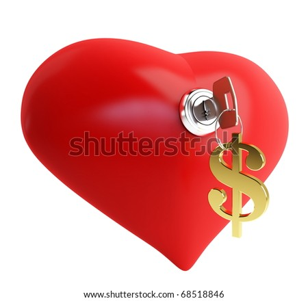 love for money - stock photo