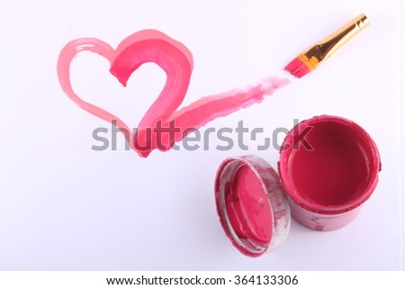 Love from a heart soars, unattached or borders. - stock photo