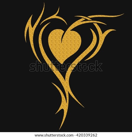 Love, hand lettering, calligraphy inscription - stock photo