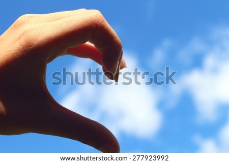 Love hand sign - stock photo