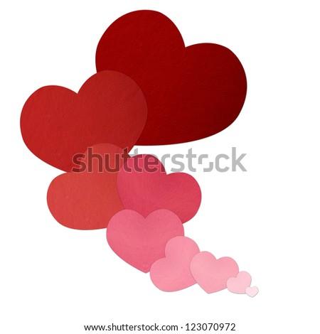 Love heart on white background. - stock photo