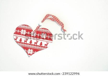 Love heart shape (christmas tree toy)  - stock photo