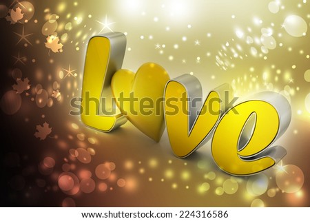 love heart, valentines day concept - stock photo