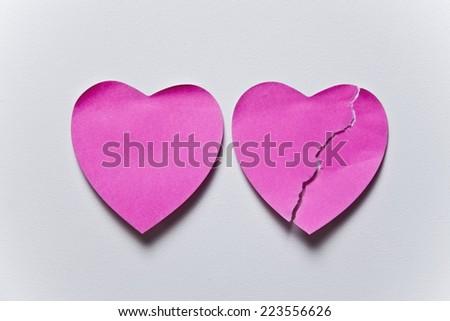 love hearts post it - stock photo