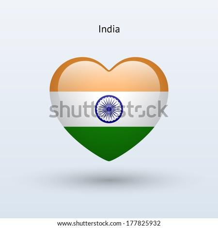 Love India Logo Flag Love Travel Stock Illustration 899397 ...