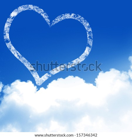 love is in the air (with clouds and blue background)