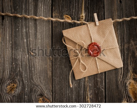 Love Letter and pencil - stock photo