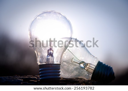 Love lightbulb - stock photo