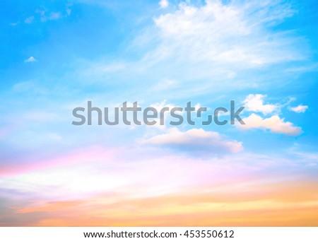 Love Line Magenta Purple Soft Orange Yellow Pink Blue White Sun Ray Glow Art Sunny Warm Dawn Cloud Dusk Power Vivid Freedom Drama Scene Cloud Peace Color Nature Haze Heaven Paradise Fluffy concept - stock photo