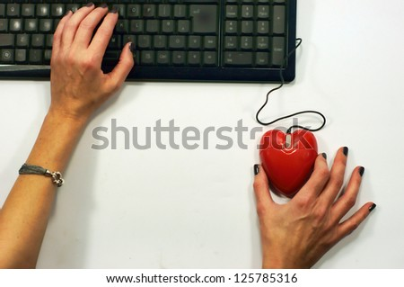 Love mouse dating - stock photo