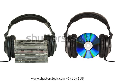 Love music or listen to music conceptual images - stock photo