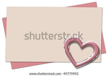 Love note, blank. - stock photo