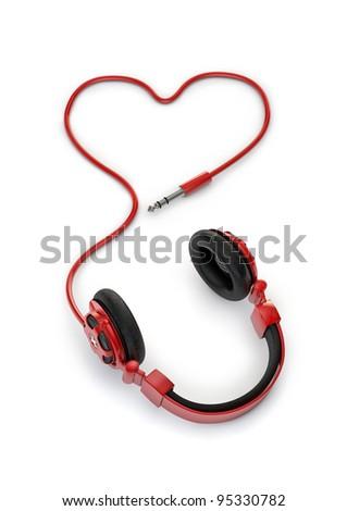 Love of music - stock photo