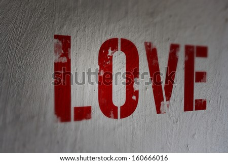 Love on the Wall - stock photo