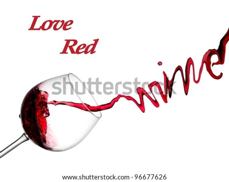 Love red wine - stock photo