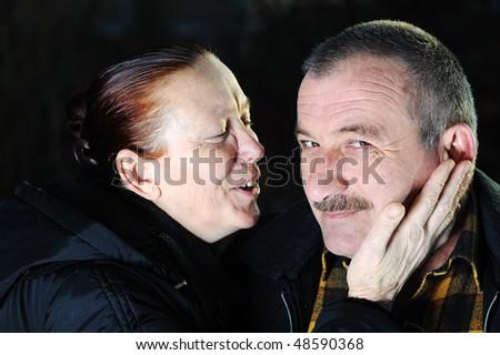 Love, senior couple - stock photo