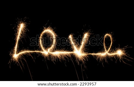 love sparkler - stock photo