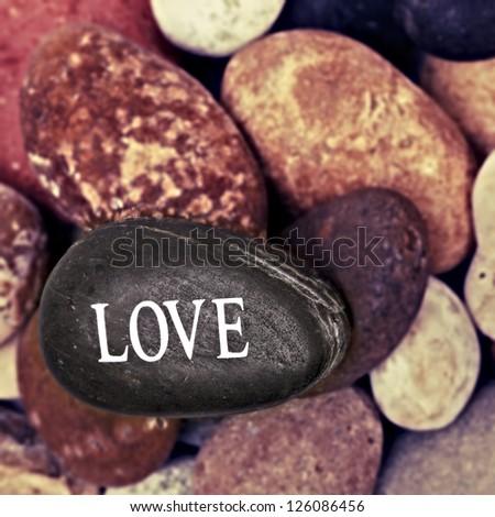 Love  Stone - stock photo
