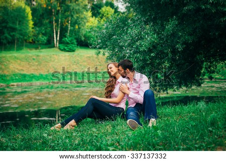 Love story. Young couple