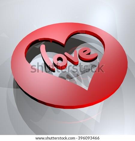 love symbol - stock photo