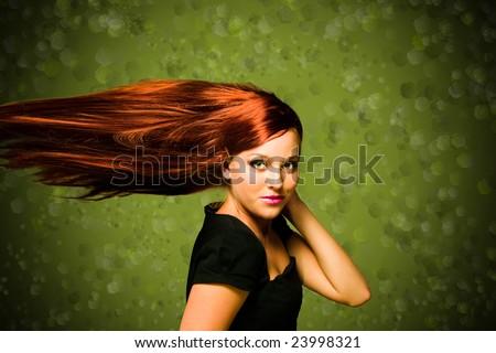 love that hair - stock photo