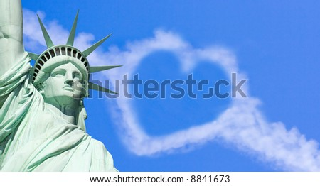 Love That Statue of Liberty - stock photo