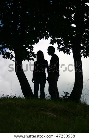 Love Trees Marry - stock photo