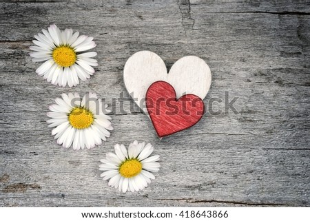 Love. Valentines day heart. Love. Heart for love. Heart and Love. Valentines day heart for love. Love. Valentines day heart.  Red heart on old wood for love. Love.  - stock photo