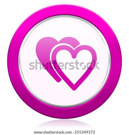 love violet icon sign hearts symbol  - stock photo