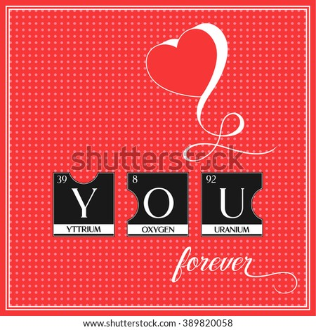 Love you word poster made periodic stock illustration 389820058 love you word poster made of periodic table elements illustration perfect design from puzzles for urtaz Images