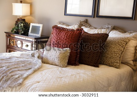 Lovelly Decorated Bedroom - stock photo