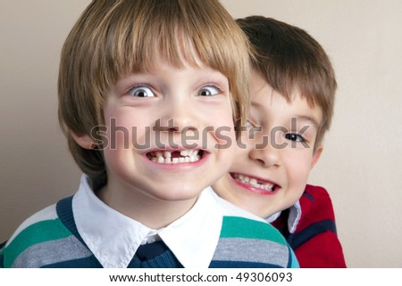 Lovely and funny kids - stock photo