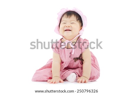 Lovely asian baby with funny expression