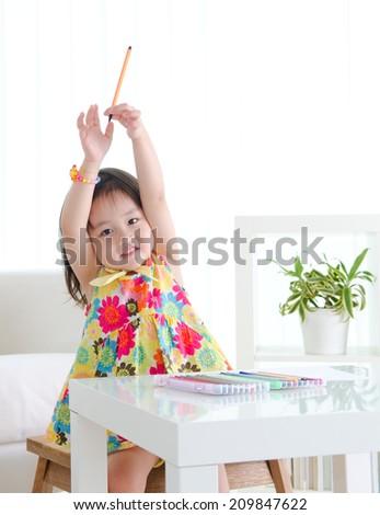 Lovely asian kid - stock photo