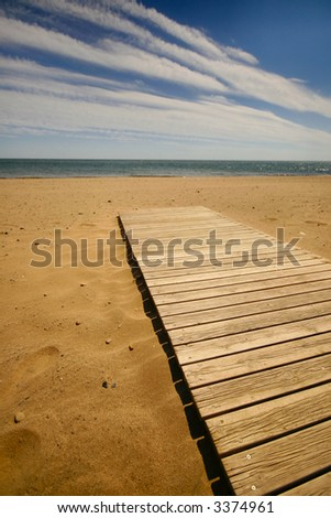 lovely beach - stock photo