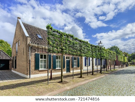 Lovely cottage houses in an ancient part of Tilburg, The Netherlands