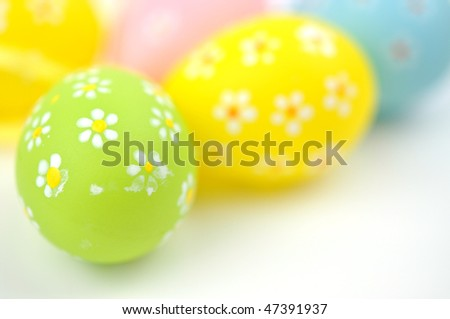 Lovely Easter eggs, isolated on white
