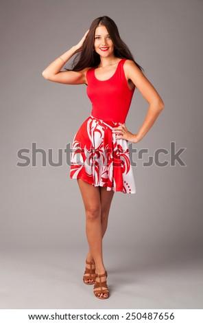 Lovely elegant woman - stock photo