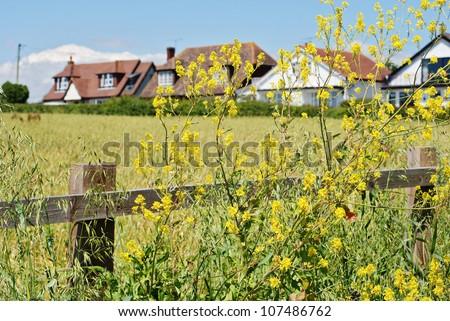 Lovely English village - stock photo