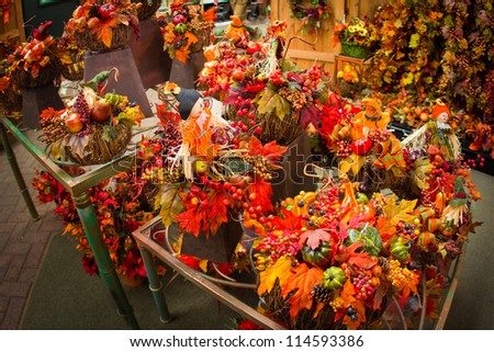 Lovely festive autumn floral display