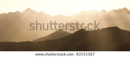 Lovely hot sunset - stock photo