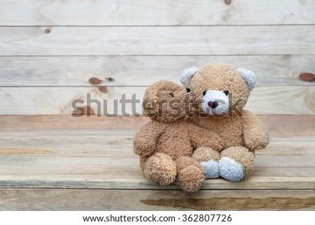 Lovely kiss teddy bear  - stock photo